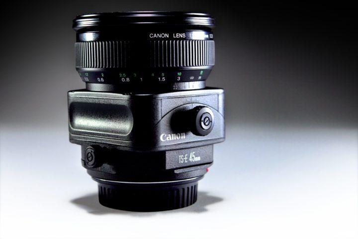 CANON 45mm 2.8 and 24mm 3.5 tilt shift lenses